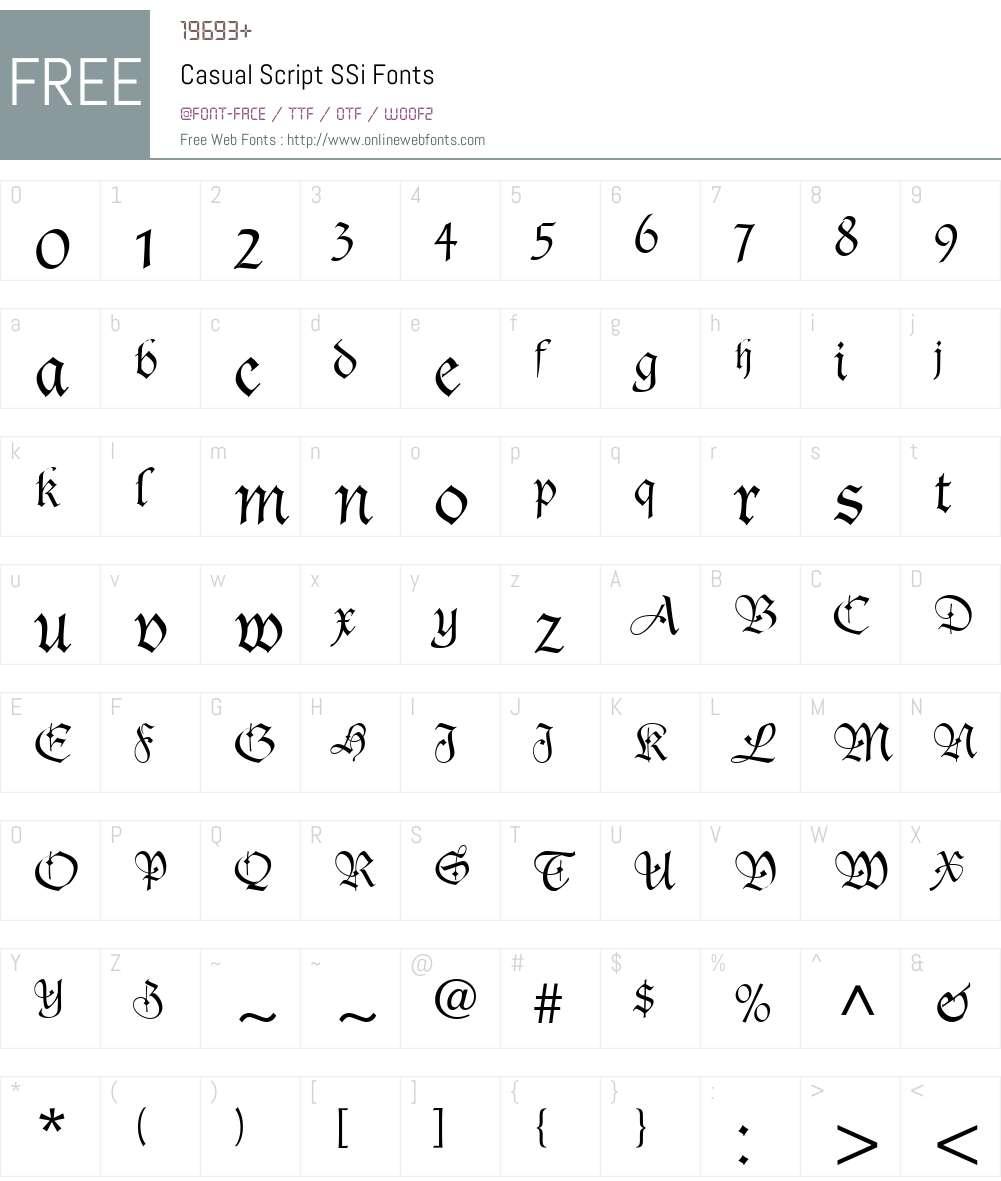 Casual Script SSi Font Screenshots