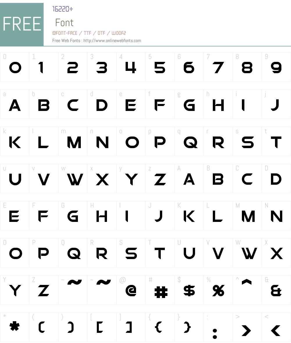 Chromia Supercap Font Screenshots