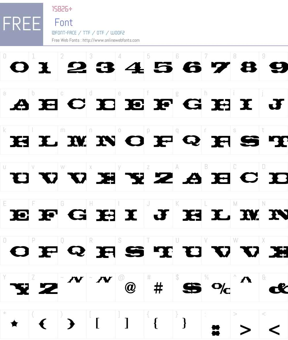 ThunderbirdICG Font Screenshots