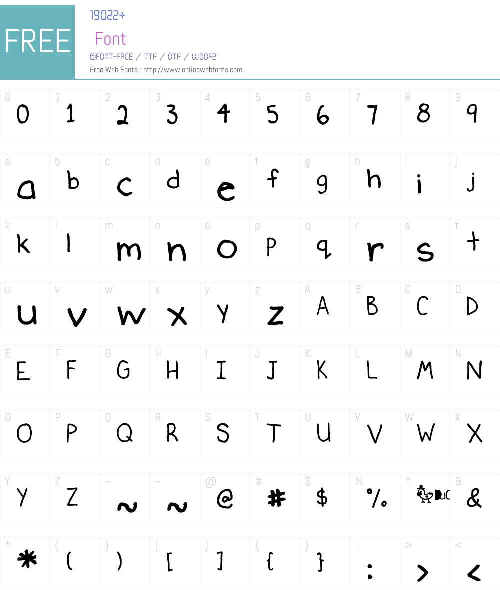 Ducky Font Screenshots
