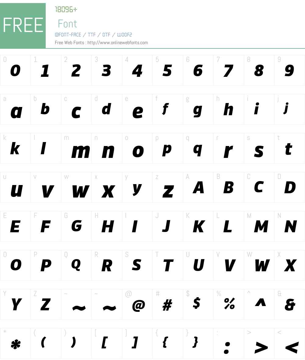 Vinkel Font Screenshots