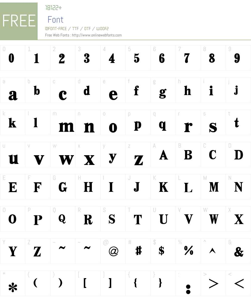 HY Chao Cu Song Simplified Chinese Font Screenshots