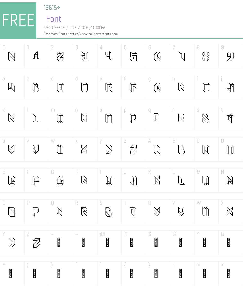 Vitreous Font Screenshots