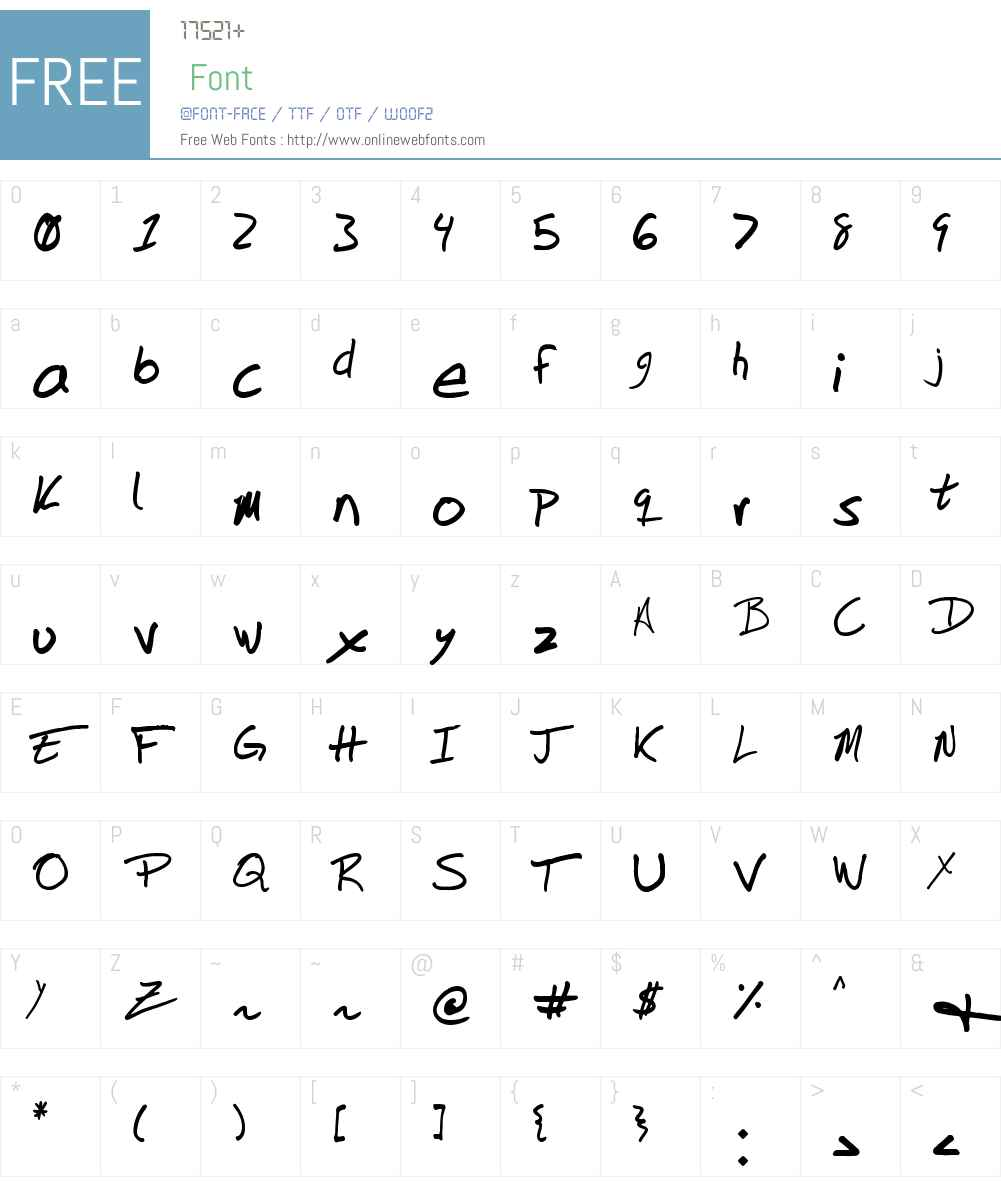 DuntonWriting Font Screenshots