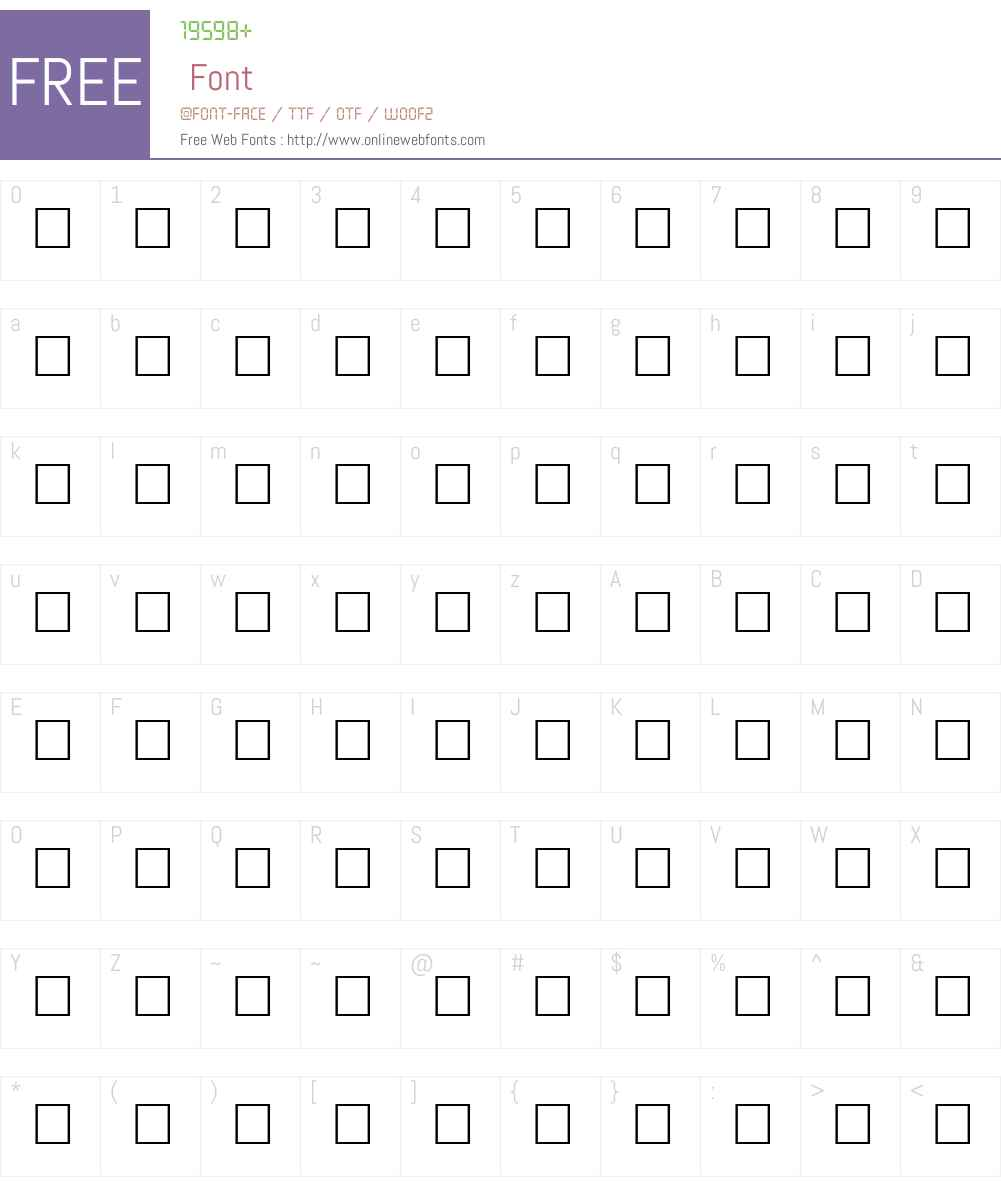 MANON Font Screenshots