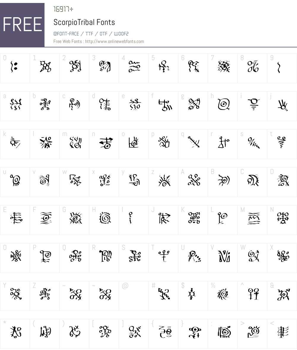 Scorpio Font Screenshots