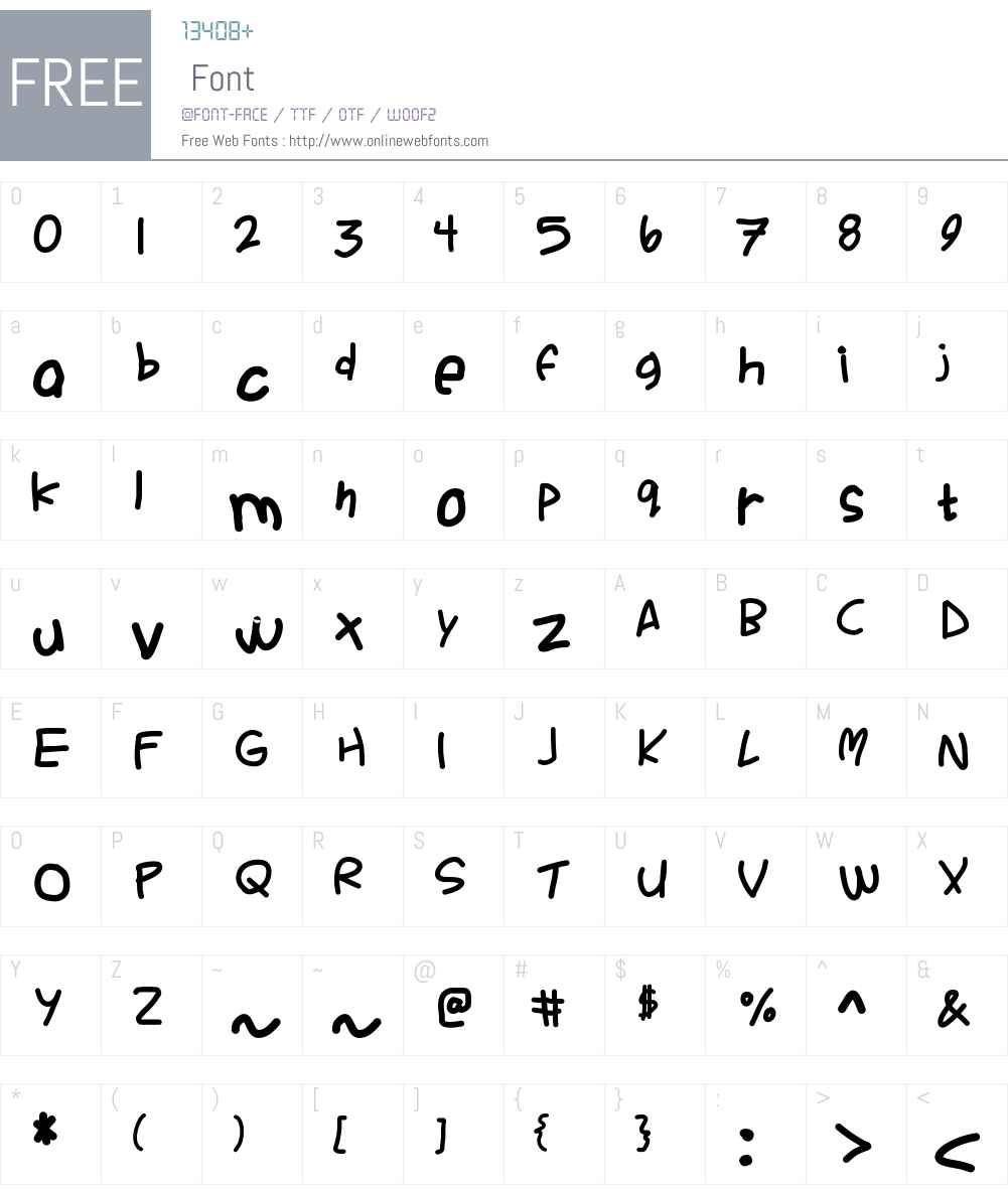 Ackident Font Screenshots
