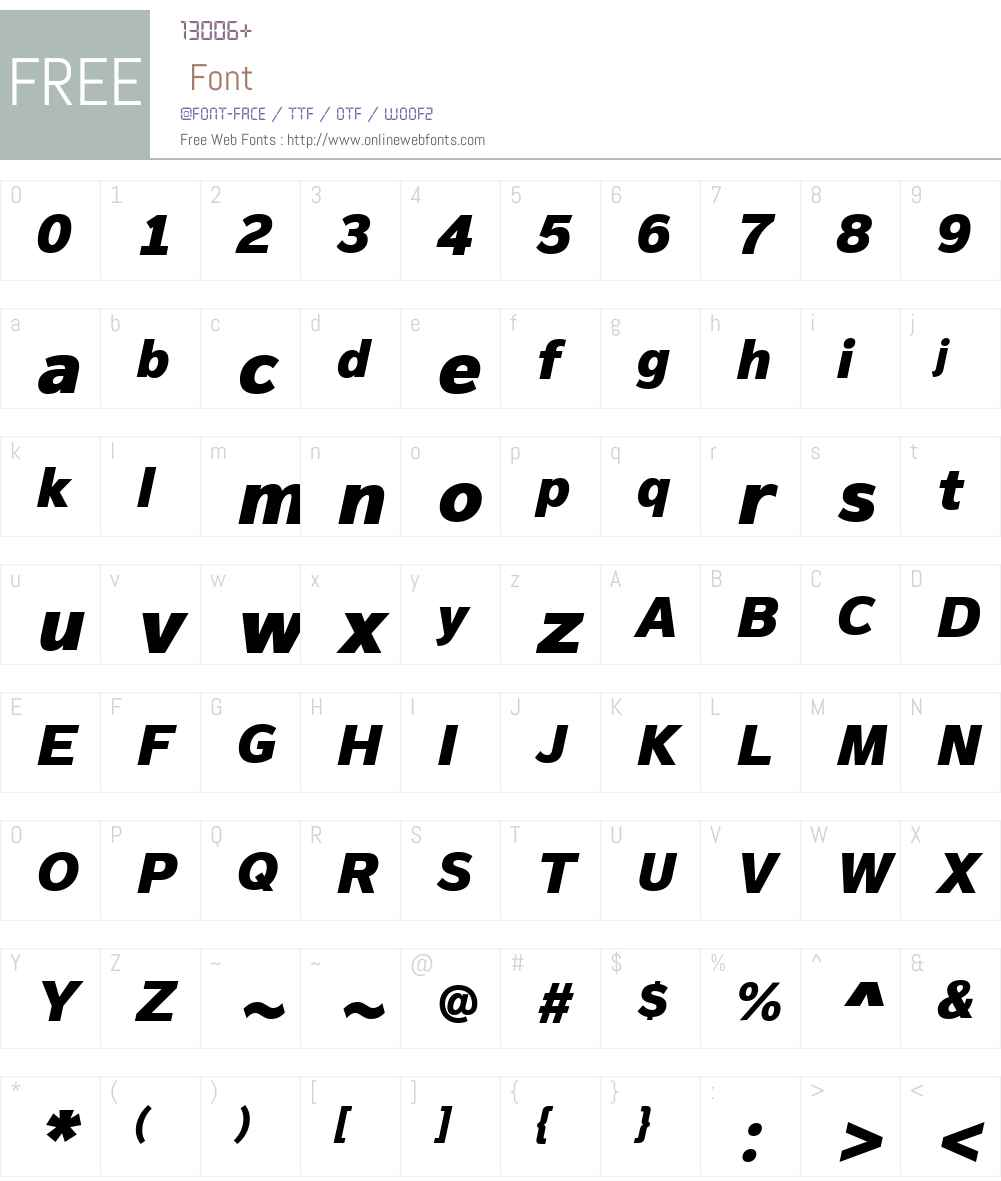 MagnumSansW01-HeavyOblique Font Screenshots