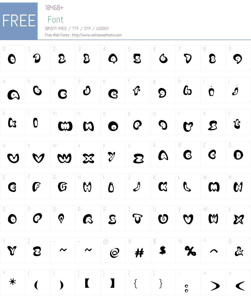 AfroditeKATEF Font Screenshots