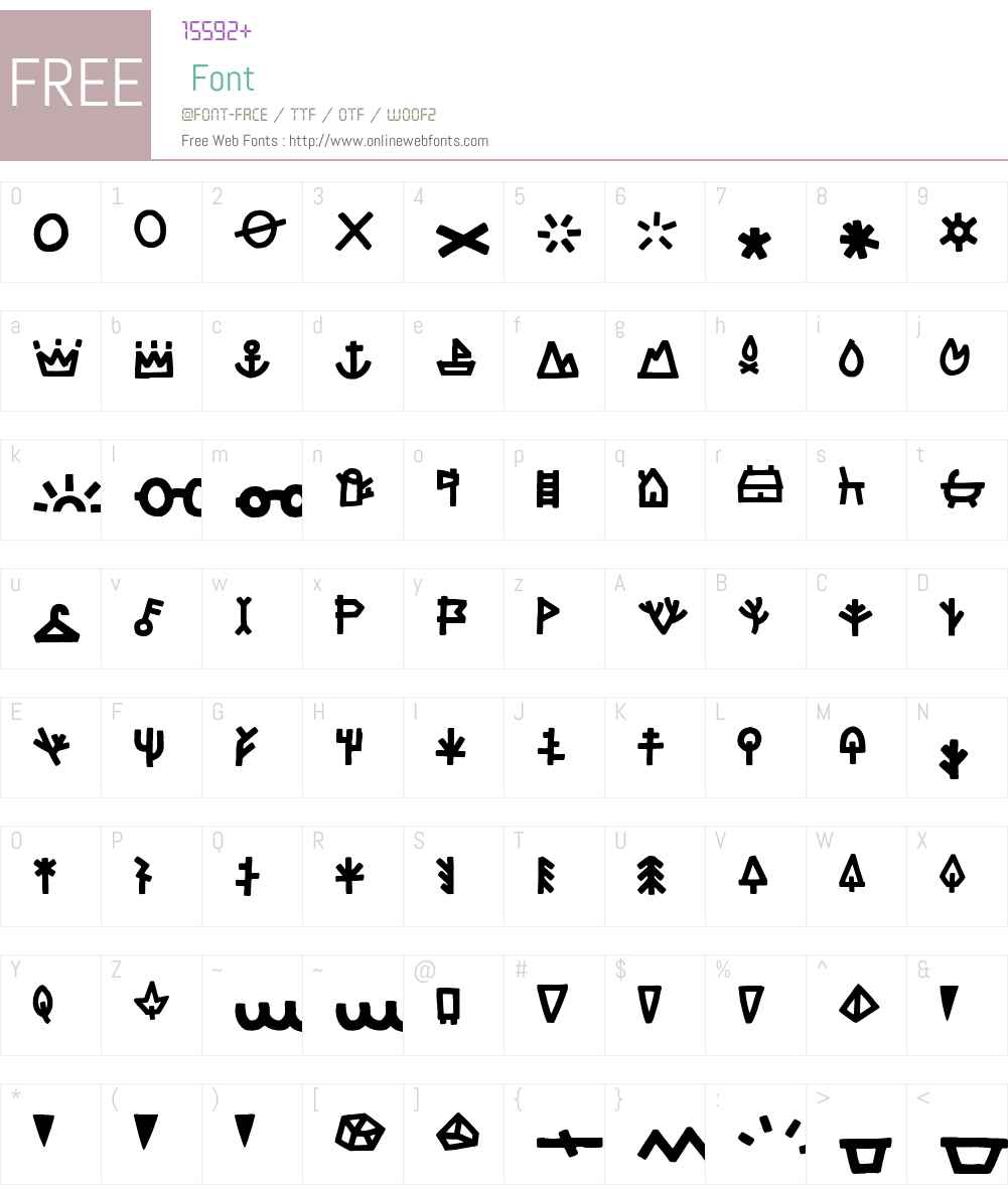 LeOslerW95-RoughIconRegular Font Screenshots