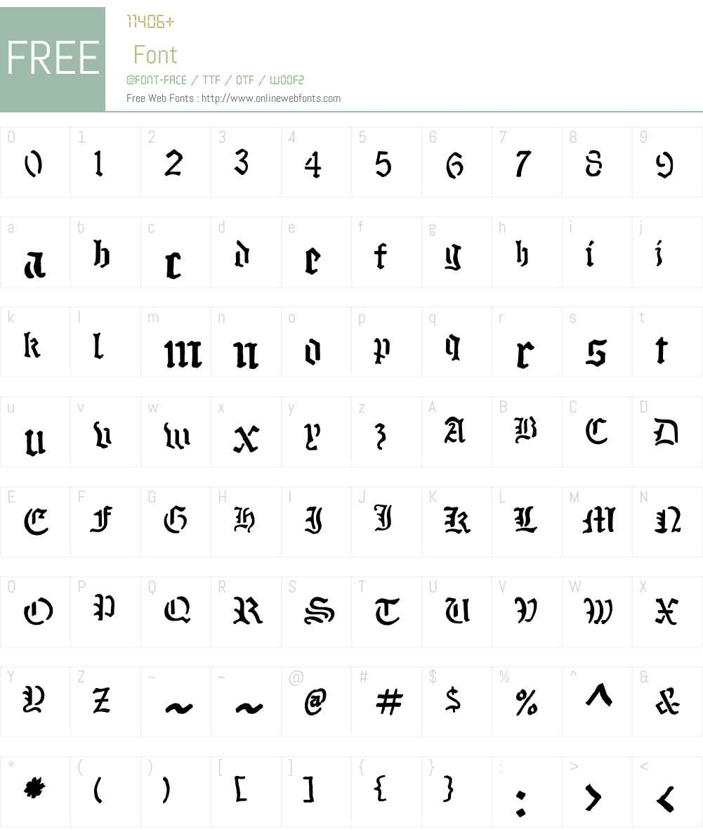 StenblakW01-Bold Font Screenshots
