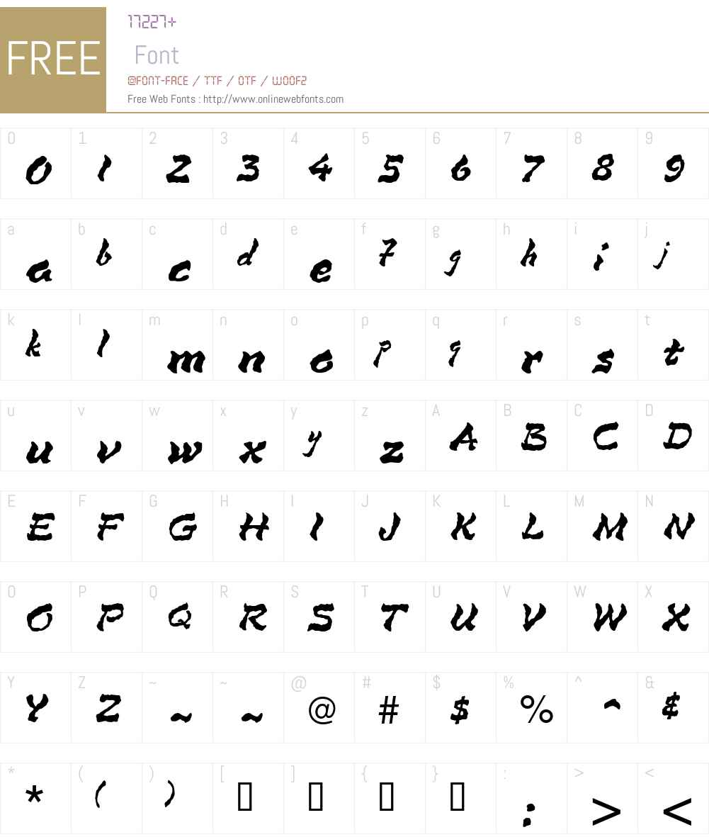 Mirage Font Screenshots