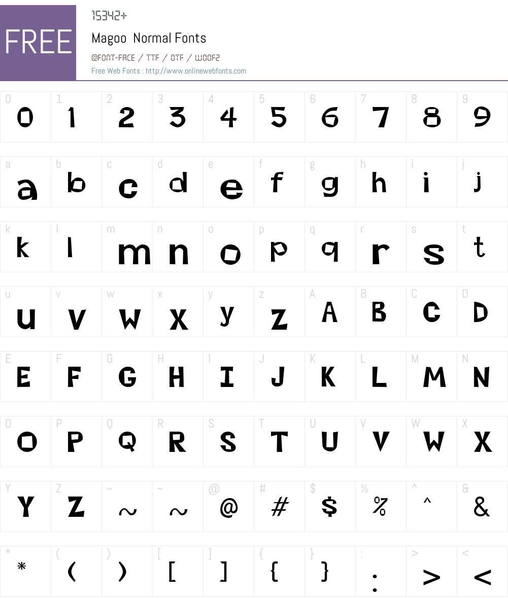 Magoo Font Screenshots