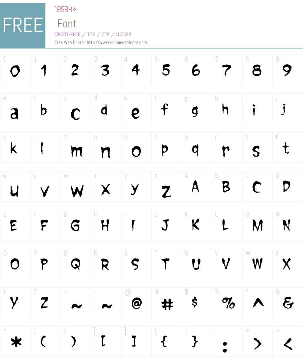 ForkedTongueW01-Regular Font Screenshots