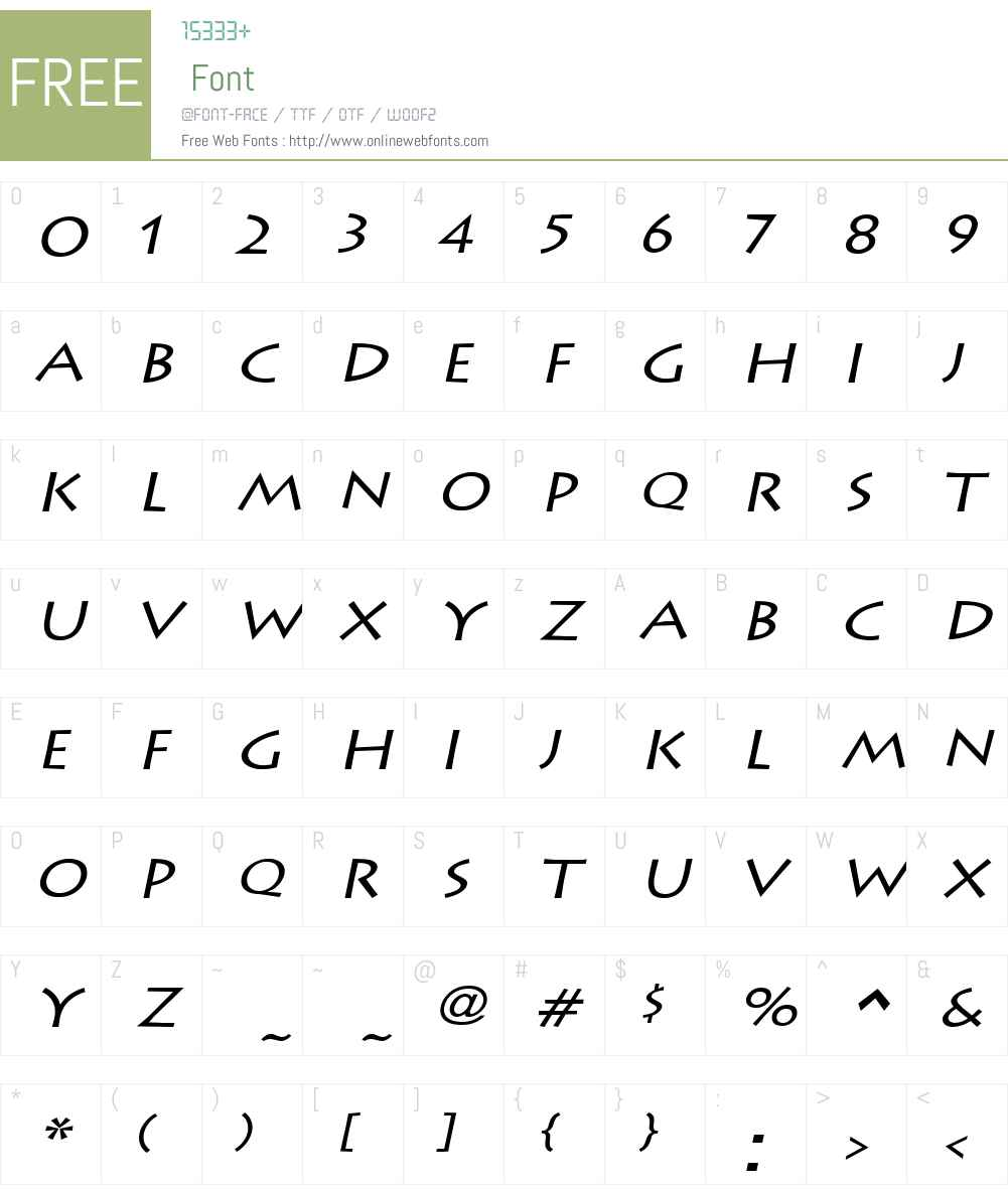 Liste Wide Font Screenshots