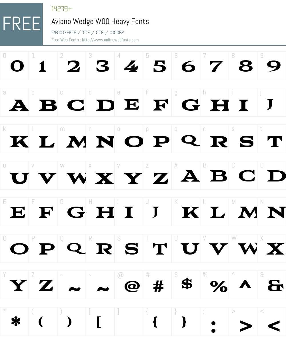 AvianoWedgeW00-Heavy Font Screenshots
