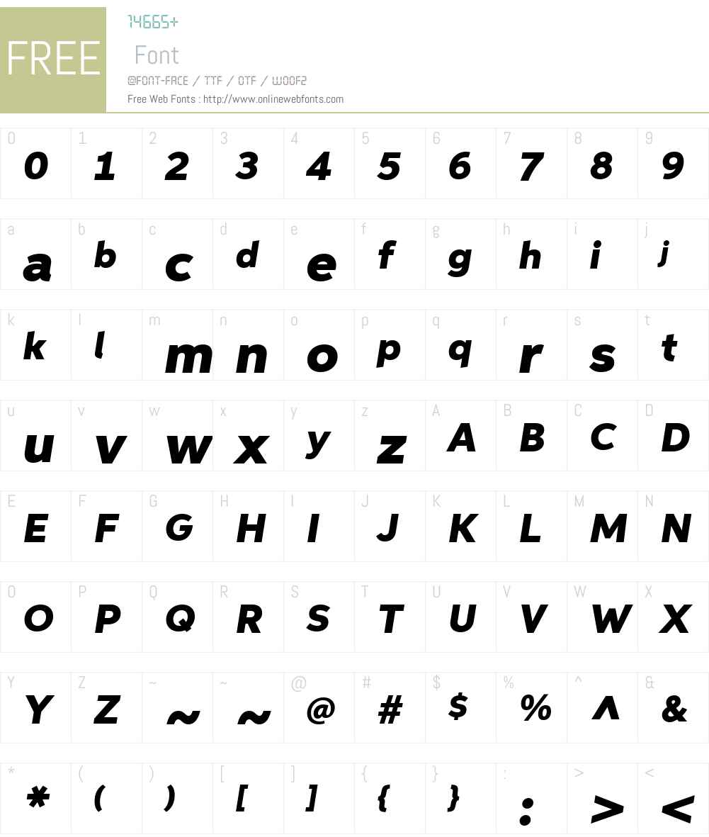 AspiraWideW01-BlackItalic Font Screenshots