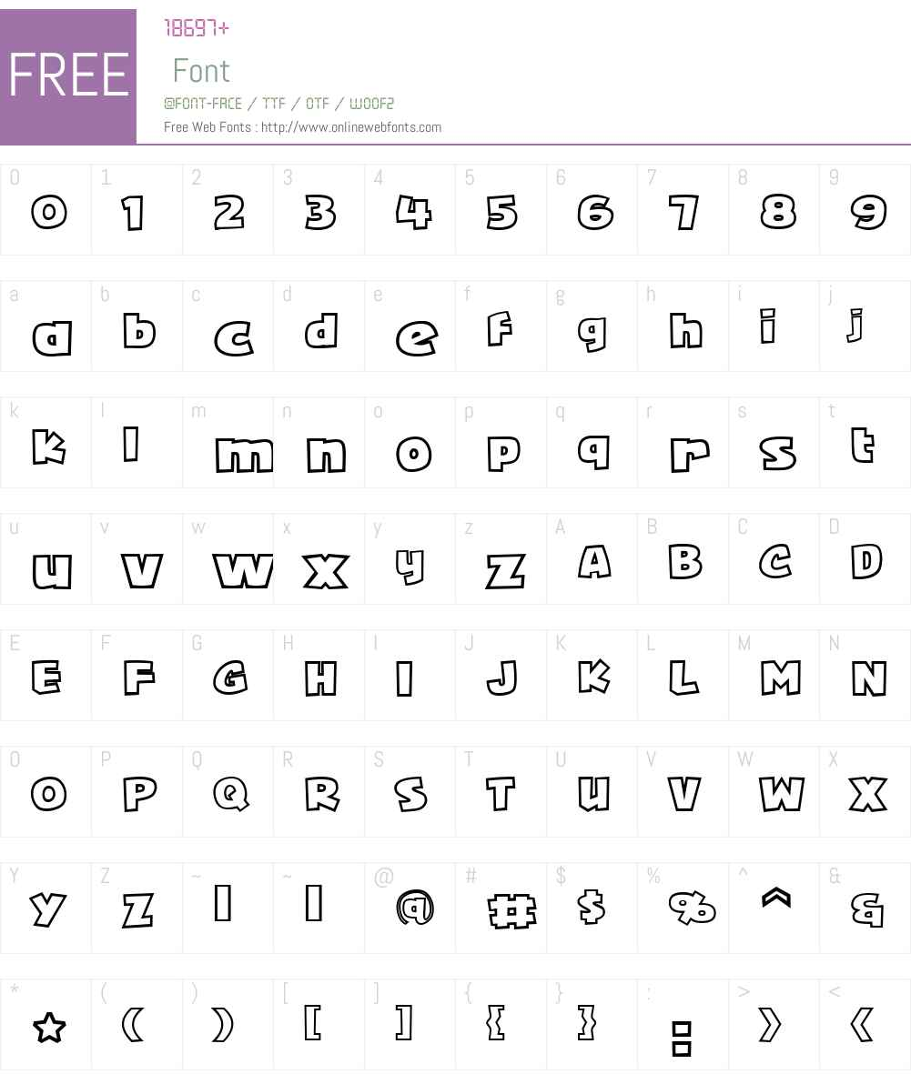Squarejaw Outline Intl BB Font Screenshots