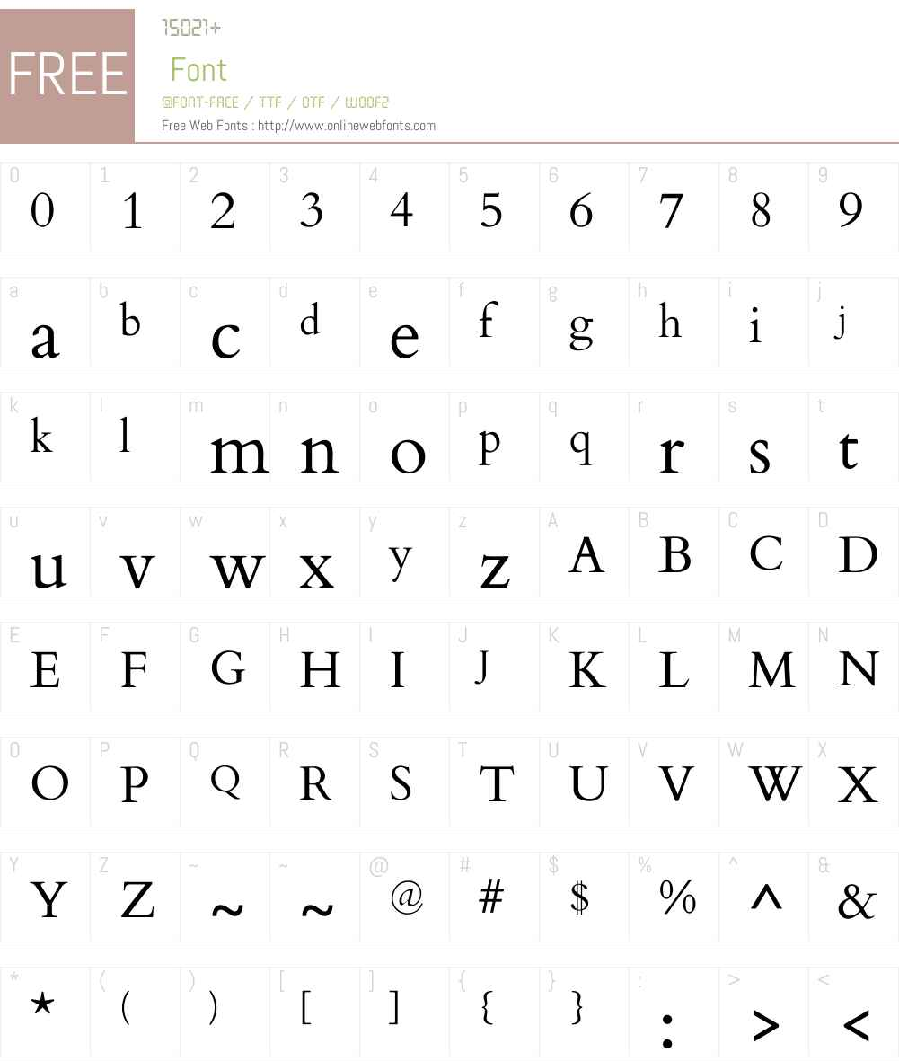 Cardo Font Screenshots