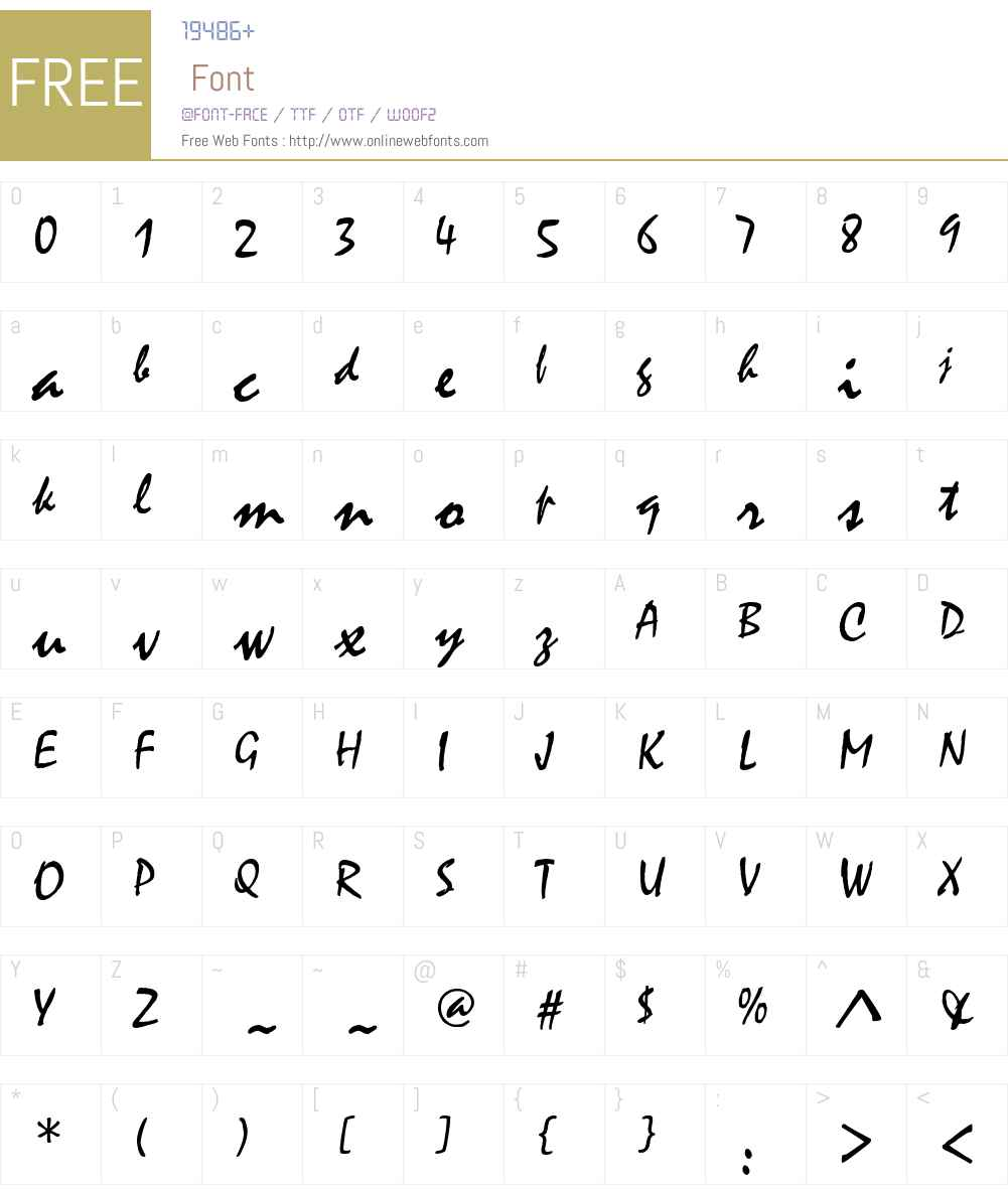 Mistral Font Screenshots