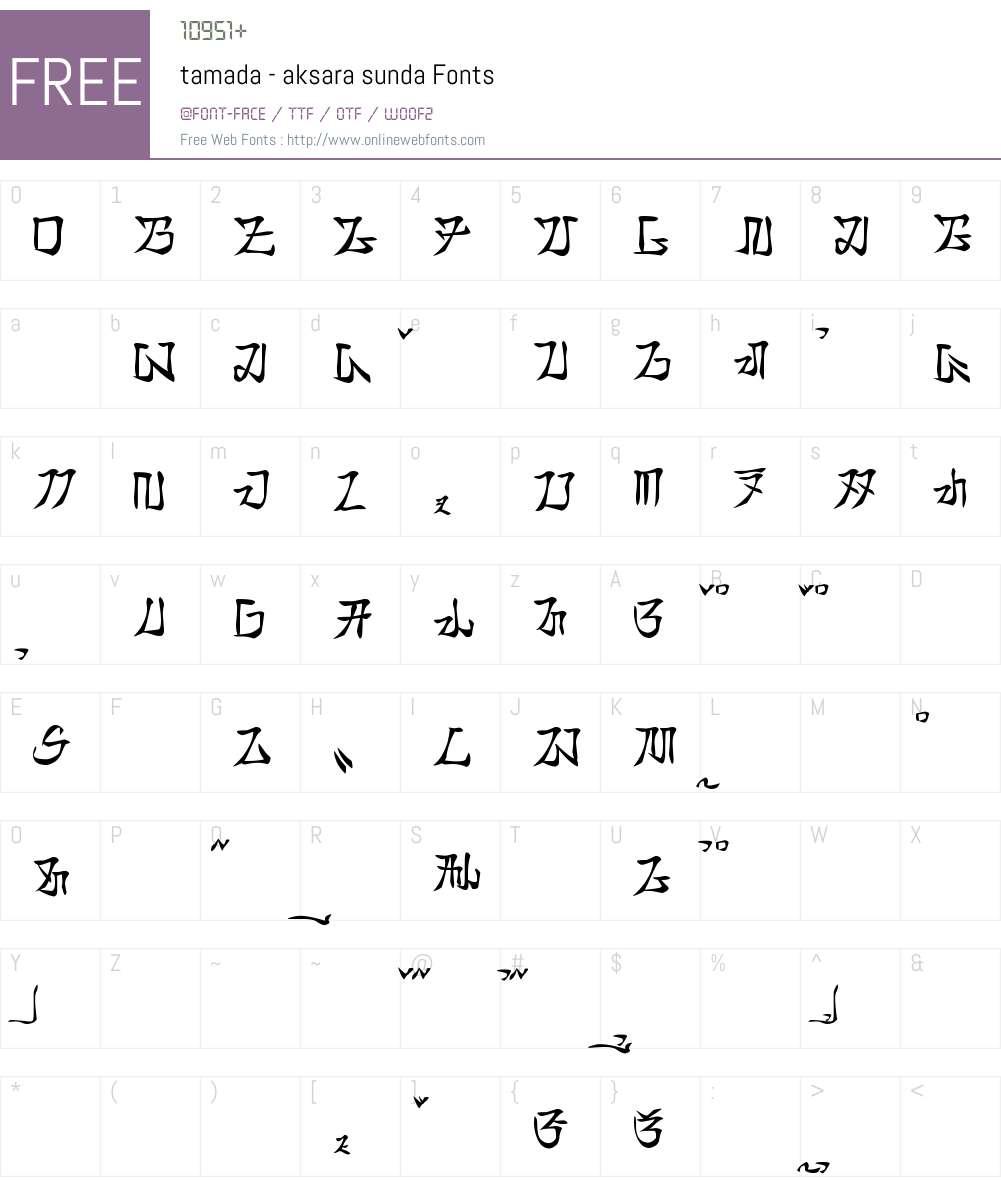 tamada - aksara sunda Font Screenshots