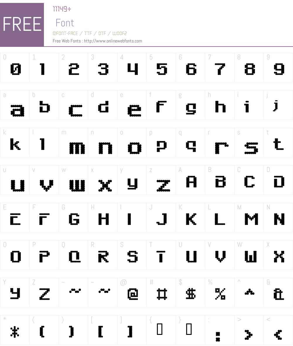 6809chargen Font Screenshots