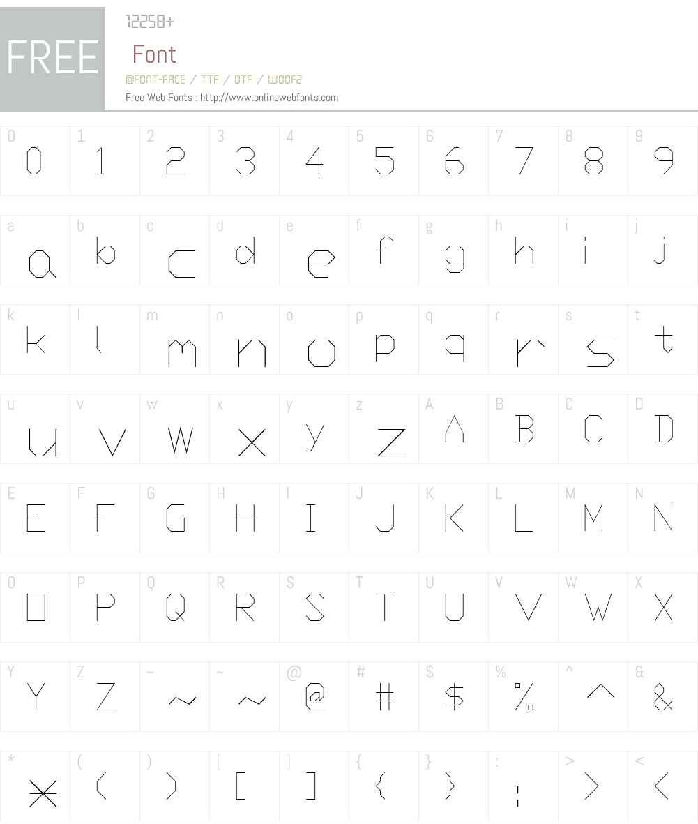 Prx1 Font Screenshots