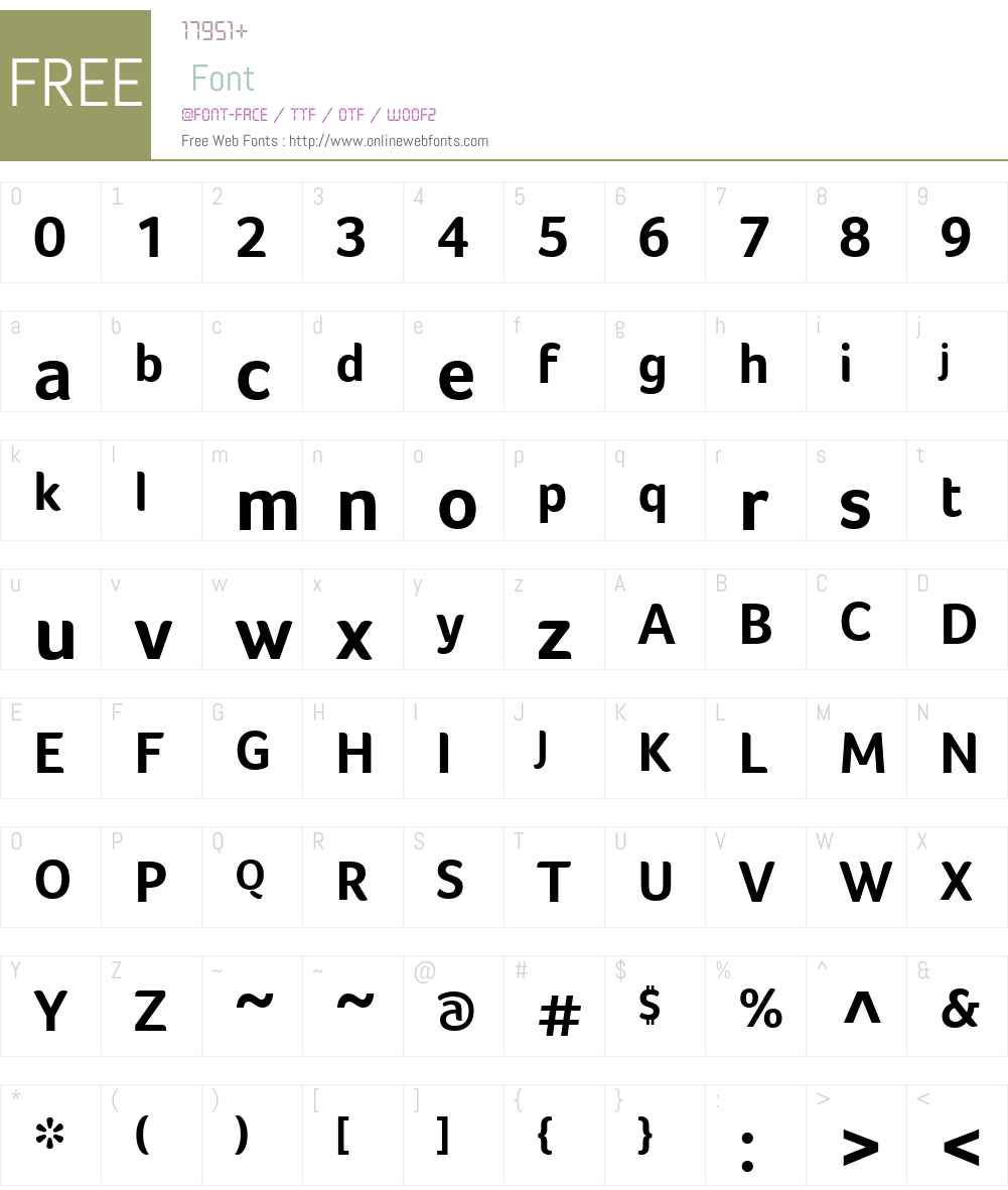 FocoW01-Bold Font Screenshots