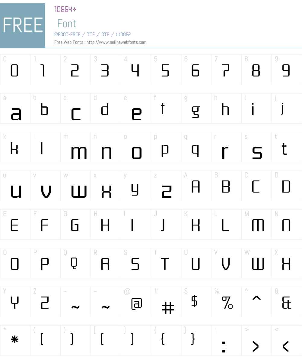 Titan Font Screenshots