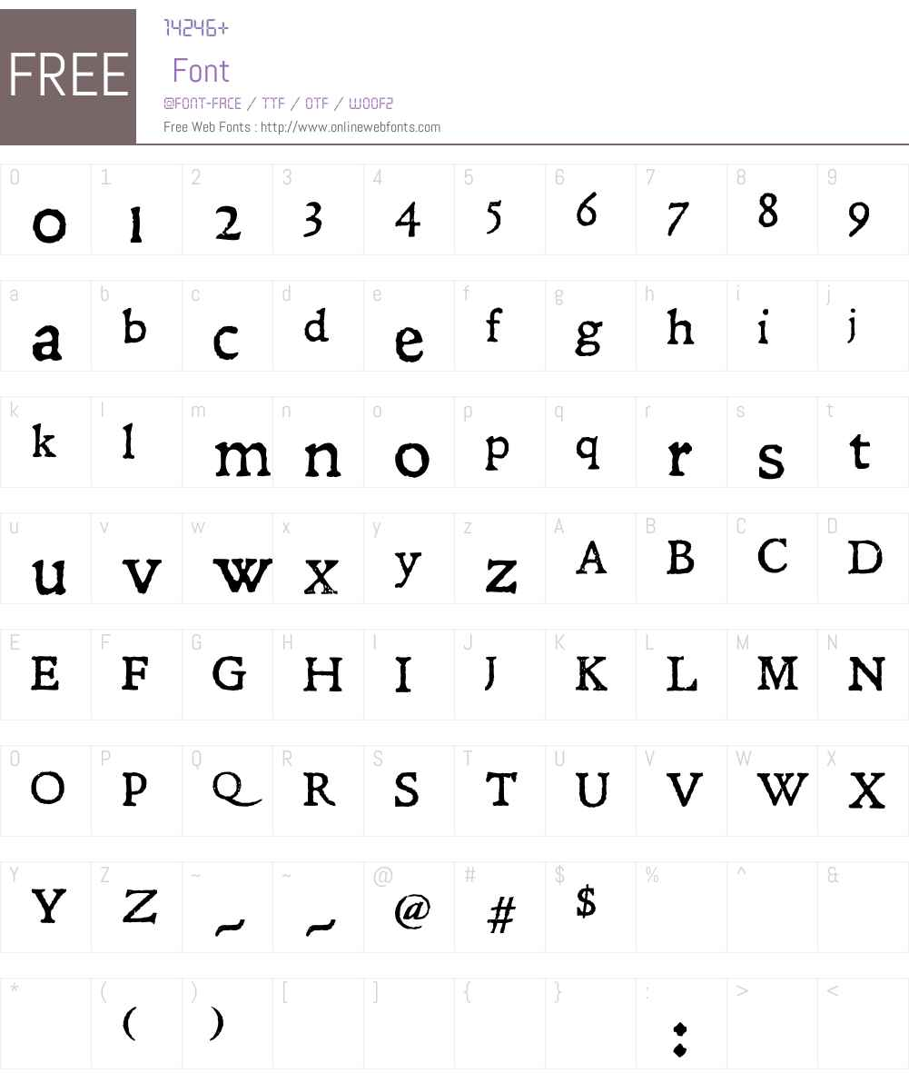 Leander Font Screenshots