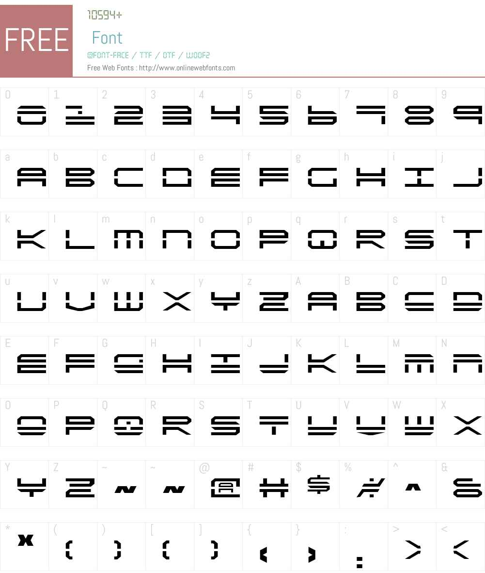 QuickStrike Font Screenshots