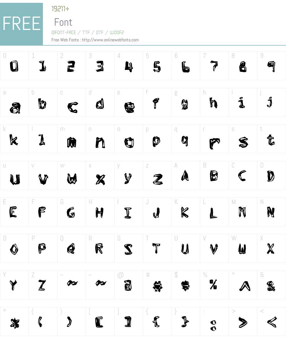 OkraCubo Font Screenshots