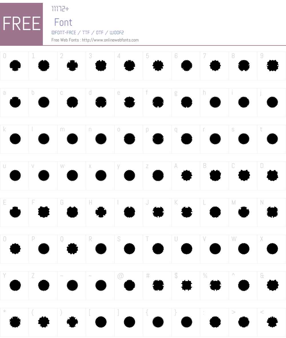 Ovulution II Membrane Font Screenshots