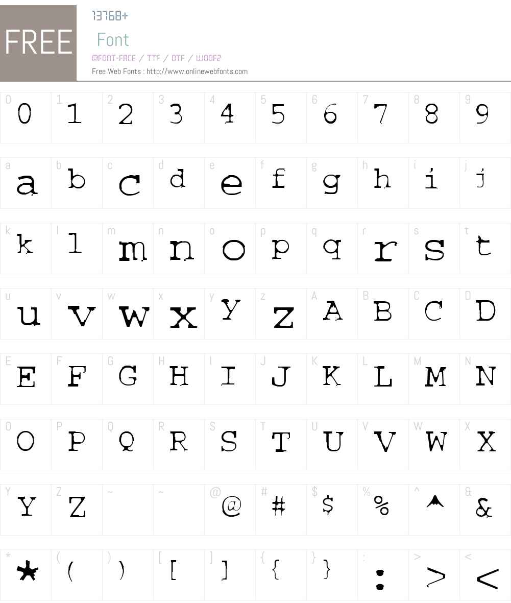 COURIERTXT Font Screenshots