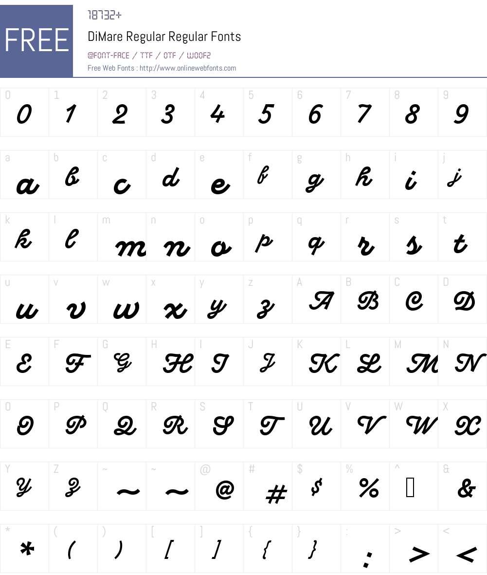 DiMare-Regular Font Screenshots