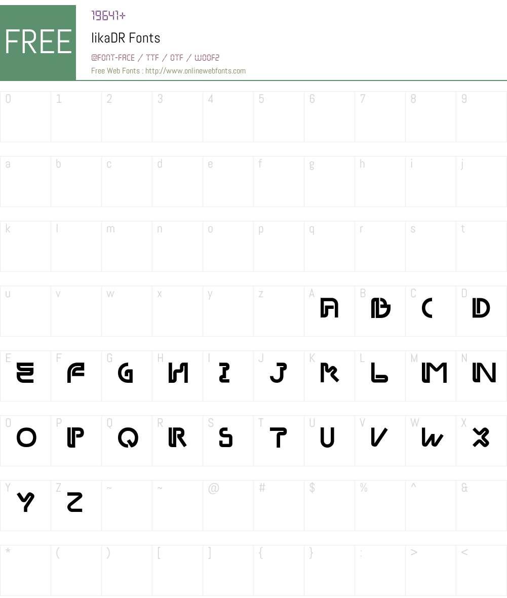 likaDR Font Screenshots