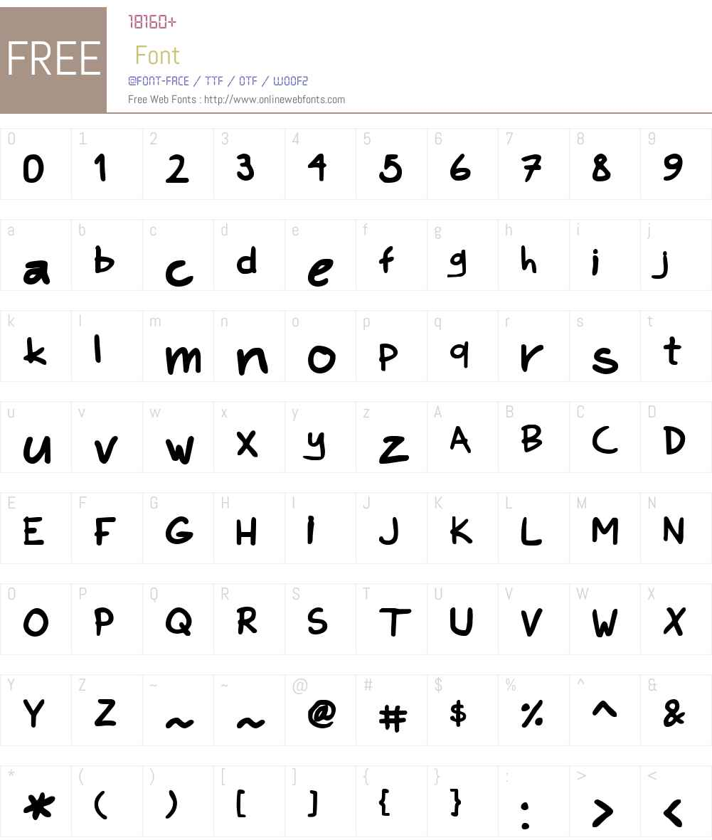 Kims Hand Font Screenshots