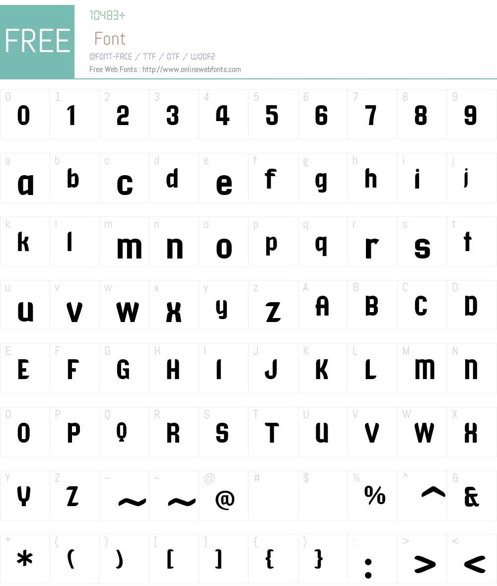 TangientGD Font Screenshots