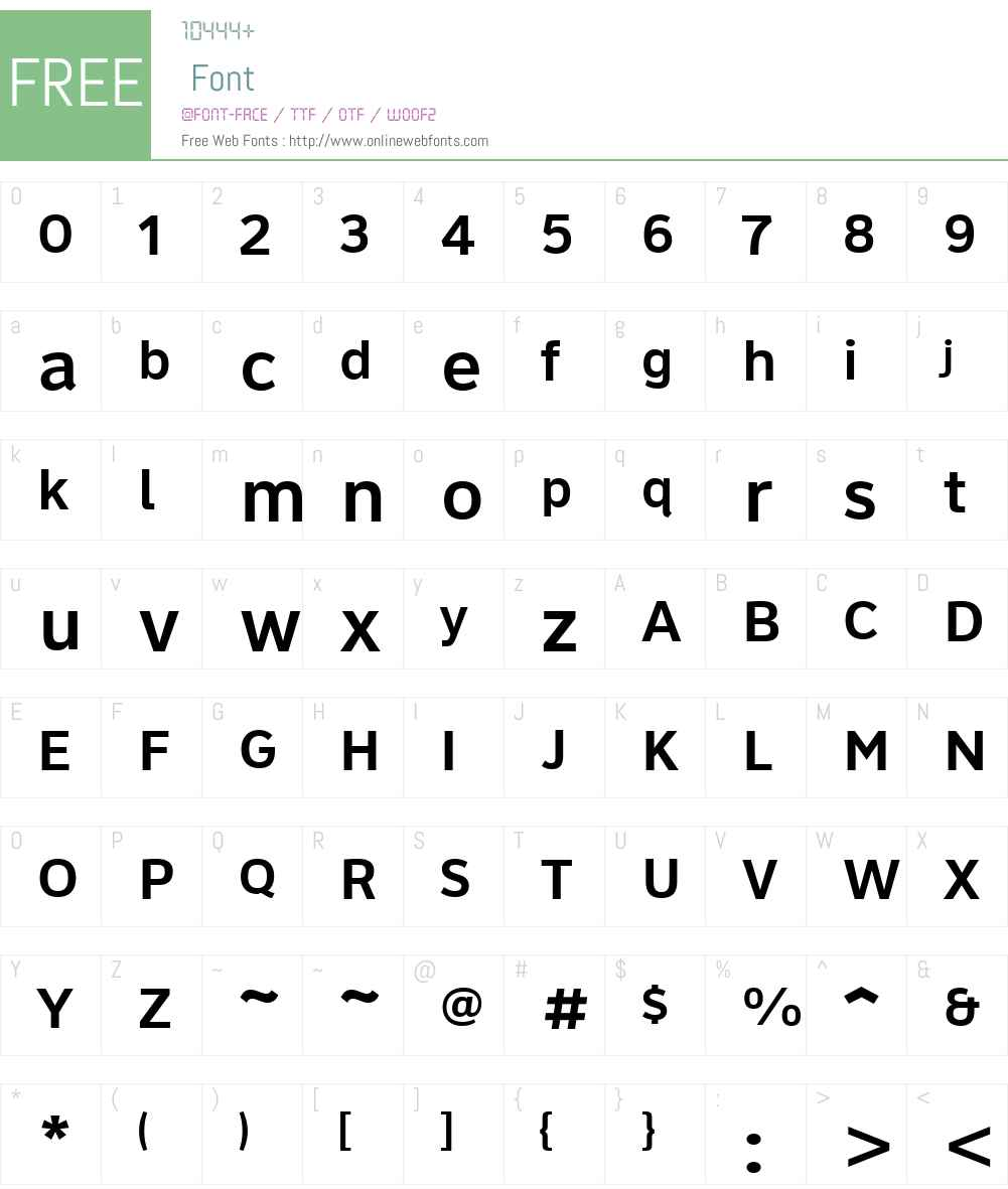 ClearviewHwy-6-W Font Screenshots