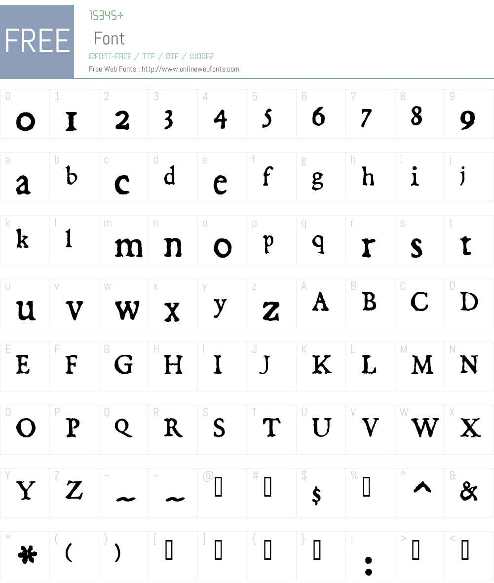 Dominican Font Screenshots