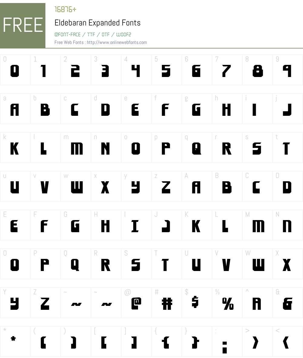Eldebaran Expanded Font Screenshots