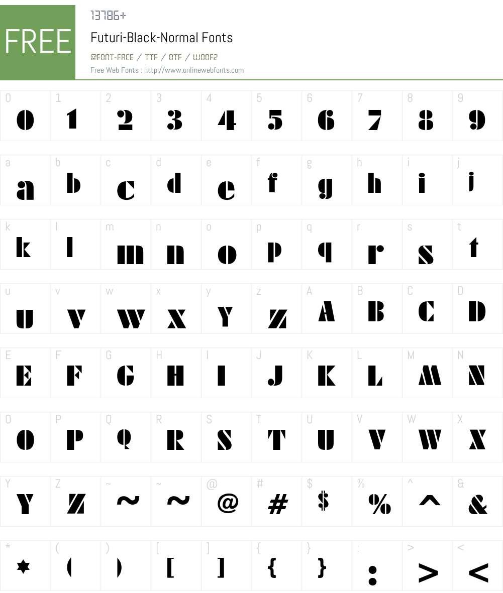 Futuri-Black-Normal Font Screenshots