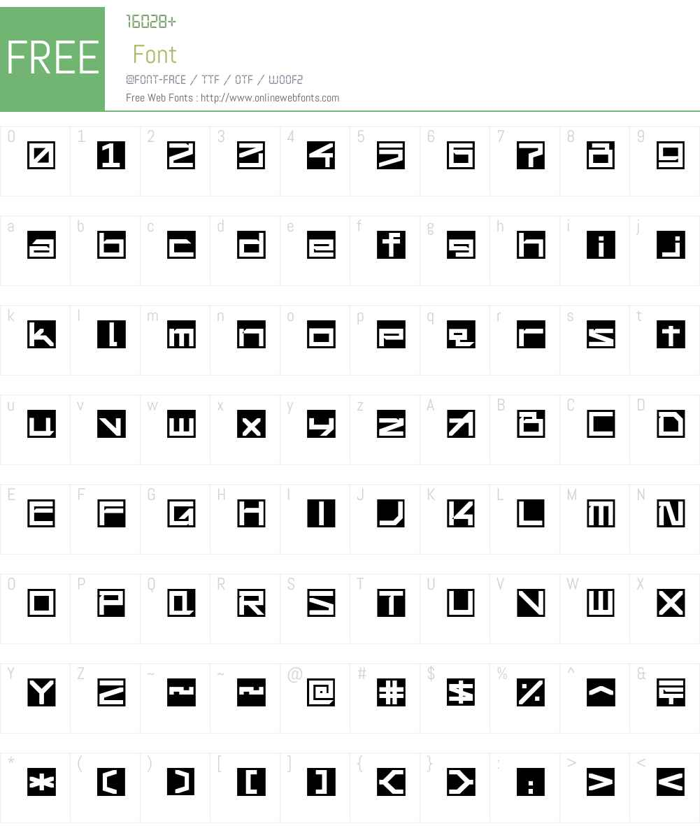 !Square Engine 250 Reflex Font Screenshots
