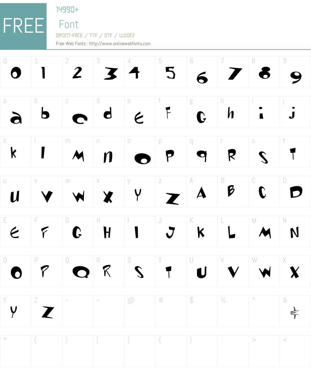 Renand Font Screenshots