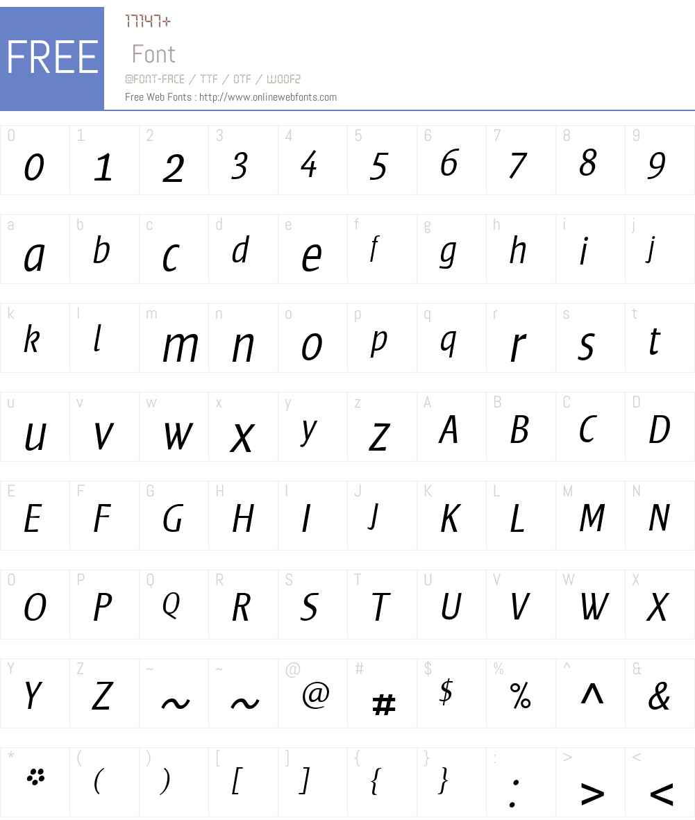 FrisansW01-LightItalic Font Screenshots