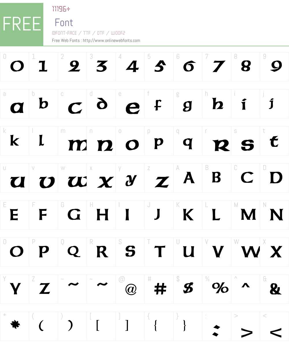American Font Screenshots