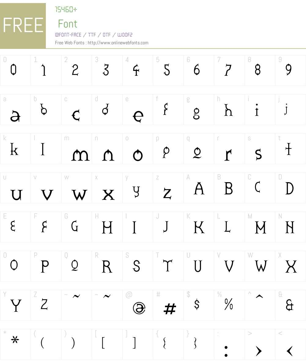 Zoroaster Font Screenshots