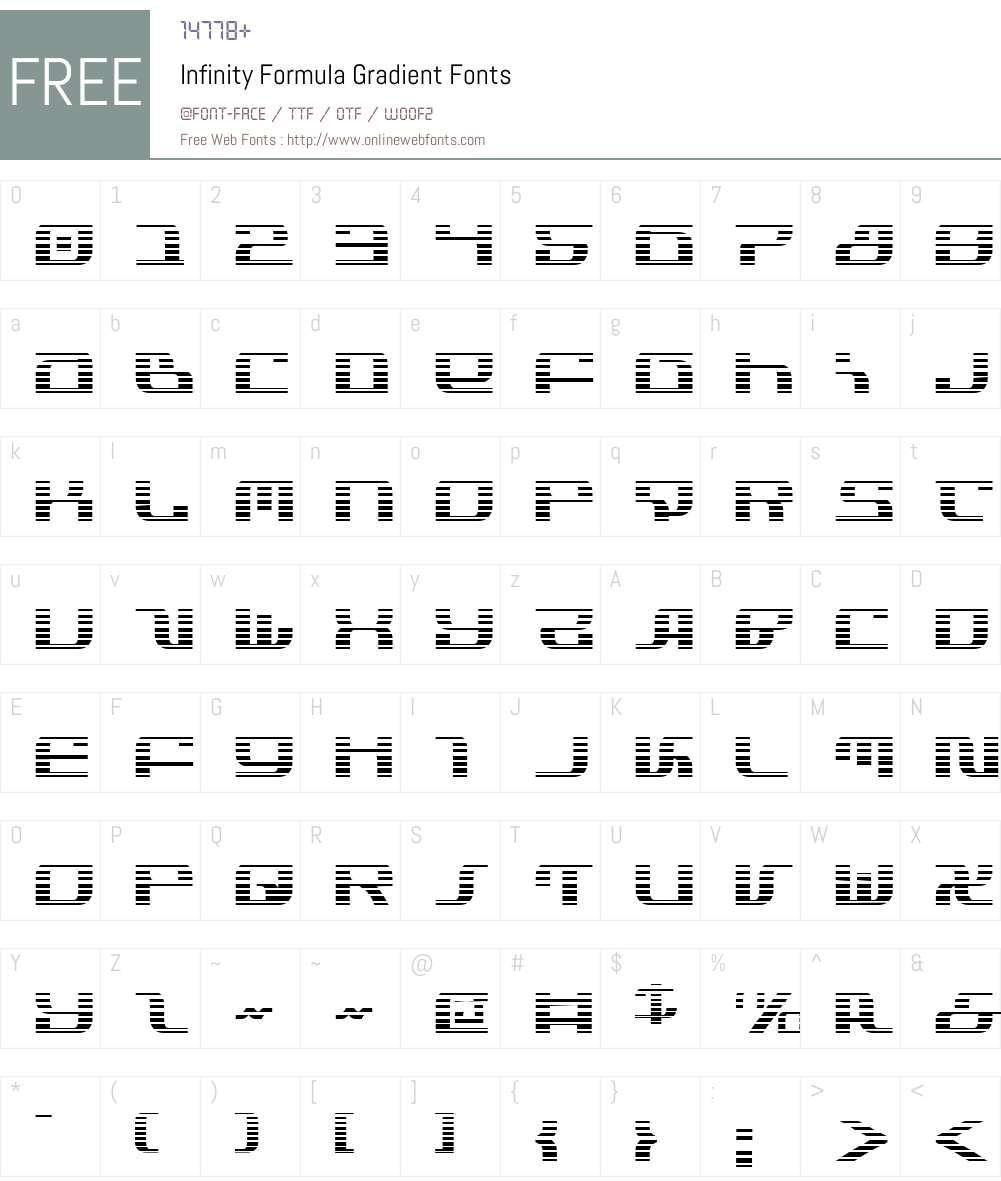 Infinity Formula Gradient Font Screenshots