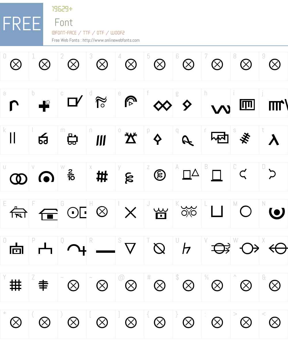 Hobo Signs Font Screenshots