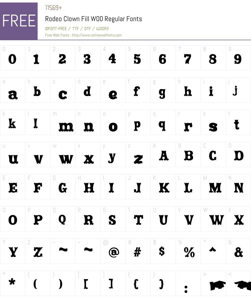 RodeoClownFillW00-Regular Font Screenshots